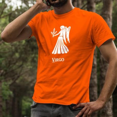 Herren Mode Baumwolle T-Shirt - Sternbild Jungfrau