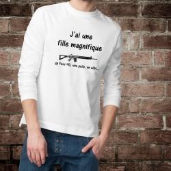 Men's Funny Sweatshirt - J'ai une fille magnifique