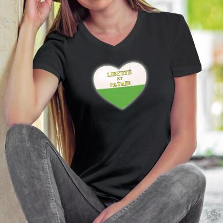 Donna cotone T-Shirt - Cuore vodese