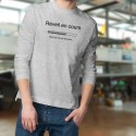 Men's Funny Sweatshirt - Réveil en cours