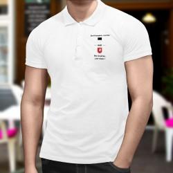 Polo shirt homme - Etre Fribourgeois, c'est bien mais être Gruérien, c'est mieux ! ainsi que du blason fribourgeois et gruérien