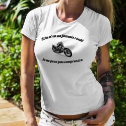 Donna moda T-shirt - Jamais roulé en Chopper