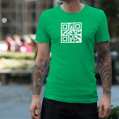 T-shirt coton mode homme - Célibataire - QR-Code