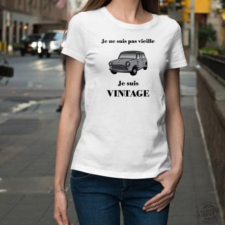 Womens Fashion T Shirt Vintage Austin Mini Cooper