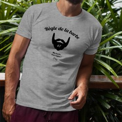 Funny T-Shirt - Règle de la barbe N°7