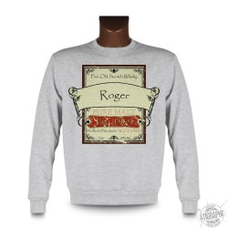 "Sweatshirt ""étiquette de Whisky"" personnalisable, Ash Heater"