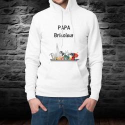 Pull-over à capuche - Papa Bricoleur - humour mode homme