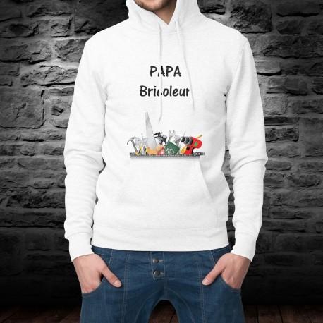Felpa bianco a cappuccio - Papa Bricoleur