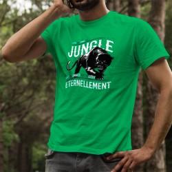 T-shirt coton mode homme - La vie, la Jungle - Panthère noire