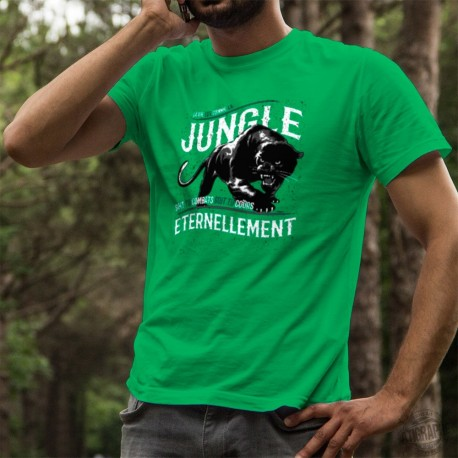 Men's cotton T-Shirt - La vie, la Jungle