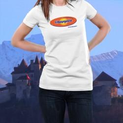 Women's slim T-Shirt - Fribourgeoise, c'est de la dynamite !