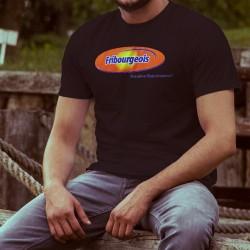 Uomo cotone T-Shirt - Fribourgeois, bien mieux. Et plus longtemps