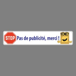 Sticker - Pas de publicité, merci ! - autocollant boîte aux lettres