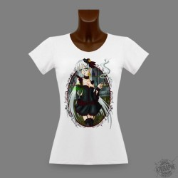 Donna Manga slim T-Shirt - Absinthe with Faust