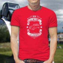 T-shirt coton mode homme - 2CV, le mythe, la légende (La Citroën Deuche)