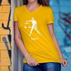 Frauen Mode Baumwolle T-Shirt - Sternbild Waage