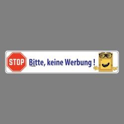 Sticker - Bitte, keine Werbung ! - Briefkasten Aufkleber