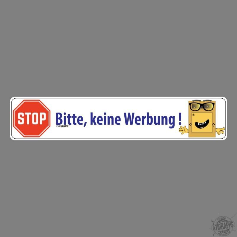 Sticker Bitte Keine Werbung