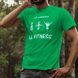 T-shirt coton mode homme - J'ai commencé le Fitness