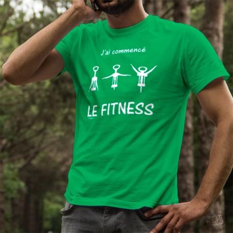 Baumwolle T-Shirt - J'ai commencé le Fitness