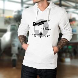 Sweat bianco a cappuccio - aereo da caccia - Swiss F-5 Tiger