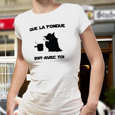 Pack Buch und T-shirt - La Haute Fondue est avec Toi - Französisch