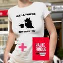 Pack T-shirt et Livre - La Haute Fondue est avec Toi