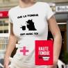 Pack T-shirt dame et Livre de recette - La Haute Fondue est avec Toi