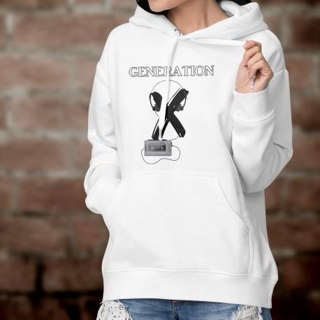 Women's Funny Hoodie - Generation X - walkman