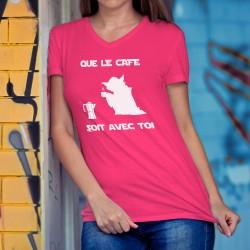 Donna cotone T-Shirt - Que le Café soit avec Toi