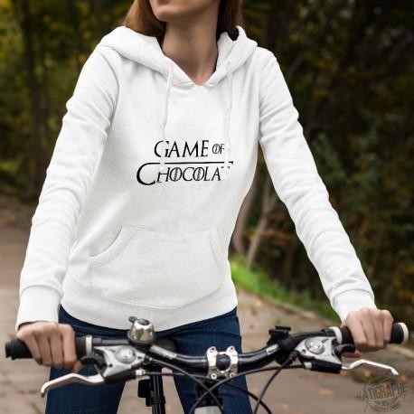 Game of Chocolat ★ Game of Thrones ★ Pull-over blanc à capuche dame inspiré de la série TV ★ Le trône de Fer ★