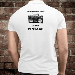 Men's funny fashion Polo Shirt - Vintage Radio