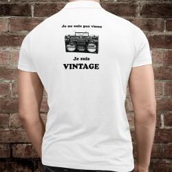 Polo humoristique homme - Vintage radio - Ghetto blaster