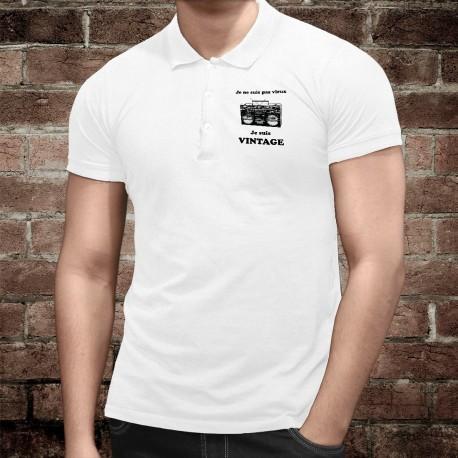 Vintage radio ★ Je ne suis pas vieux, je suis vintage ★ Polo shirt homme Boombox Radio Ghetto blaster des années 80