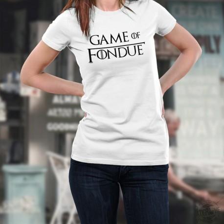 T-shirt mode dame - Game of Fondue - avec l'écriture du Trône de Fer