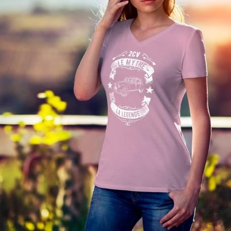 T-shirt coton mode Dame - Citroën 2CV, le Mythe, la Légende