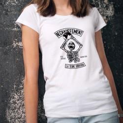 T-Shirt humoristique mode femme - Réchauffement, n'aie aucune inquiétude, la Terre survivra