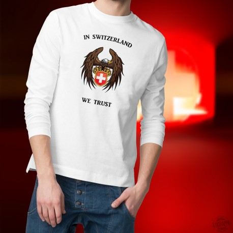 In Switzerland We Trust ✚ En la Suisse, nous avons confiance ✚ Pullover mode homme aigle majestueux