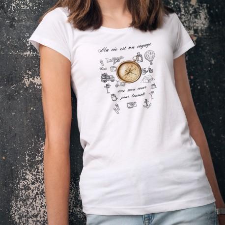 T-Shirt mode femme - Mon coeur pour boussole