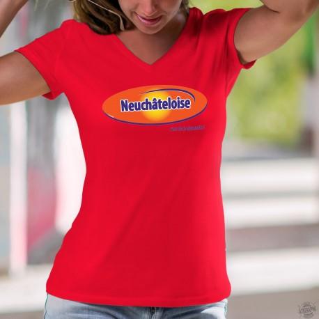 Women's cotton T-Shirt - Neuchâteloise, c'est de la dynamite
