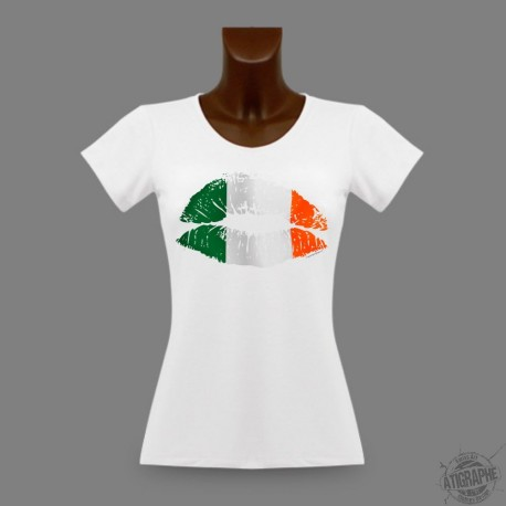 Women's slim T-shirt - Italian Kiss