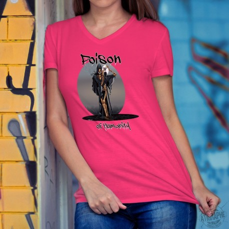 Women's cotton T-Shirt - POISON of Humanity