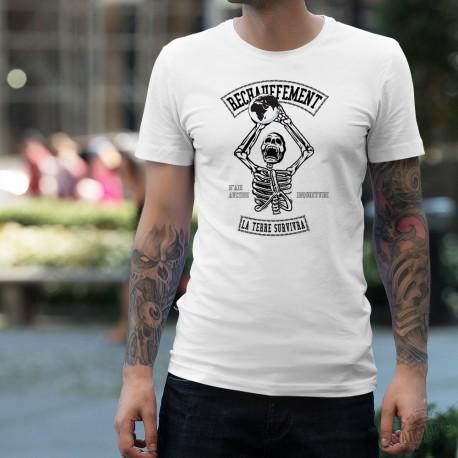 T-Shirt mode homme - Réchauffement, la Terre survivra - climat