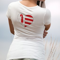 Coeur jurassien ❤ T-Shirt mode dame aux couleurs du canton du Jura