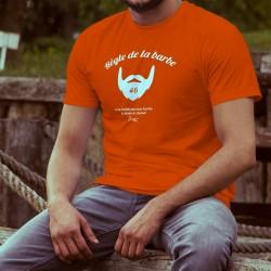 T-shirt coton mode homme - Règle de la barbe N°6 - La barbe te choisit