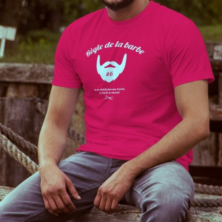 Men's cotton T-Shirt - Règle de la barbe N°6