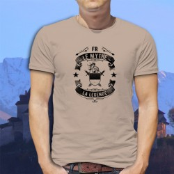 T-Shirt homme - Fribourgeois, le mythe, la légende - heaume et épées médiévales