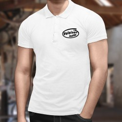 Men's Funny Polo shirt - Valaisan inside, White