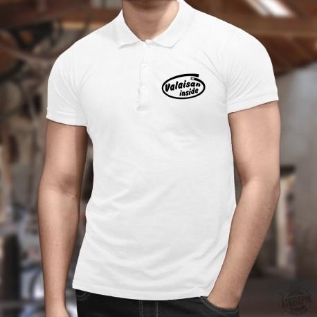 Valaisan inside ★ Valaisan à l'intérieur (du polo) ★ Polo shirt humoristique homme avec une variation du logo d'Intel