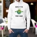Ready for free Hugs ★ Prêt pour des câlins ★ Pull à capuche homme émoticône